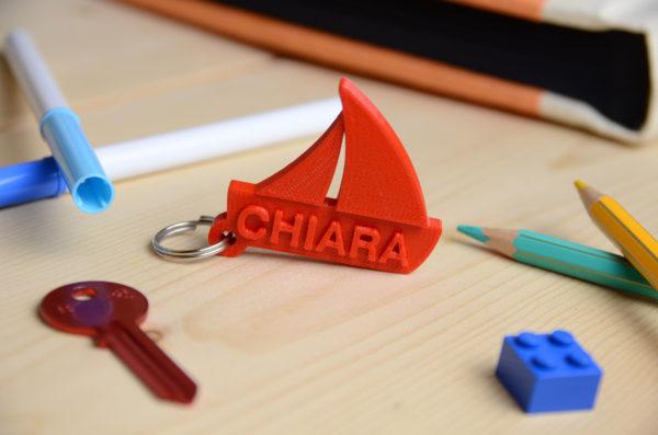 portachiavi barca a vela stampa 3D
