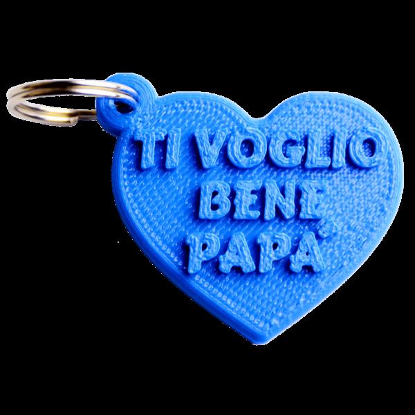 portachiavi festa del papà cuore