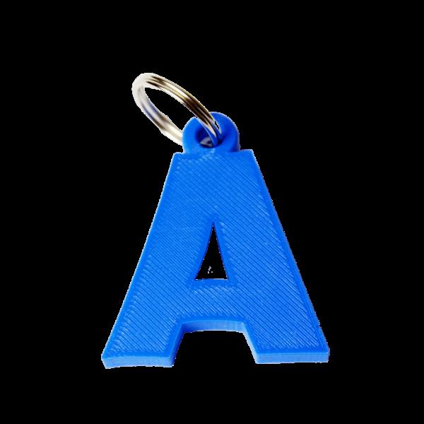 portachiavi lettera a stampa 3D